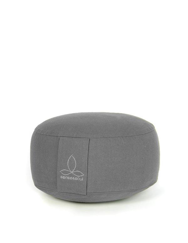 kleines Bodenkissen und Sitzkissen in der Farbe grau