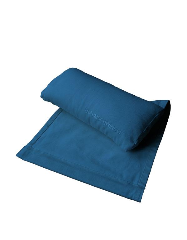 Das Nackenkissen für den Traumschwinger in der Farbe blau