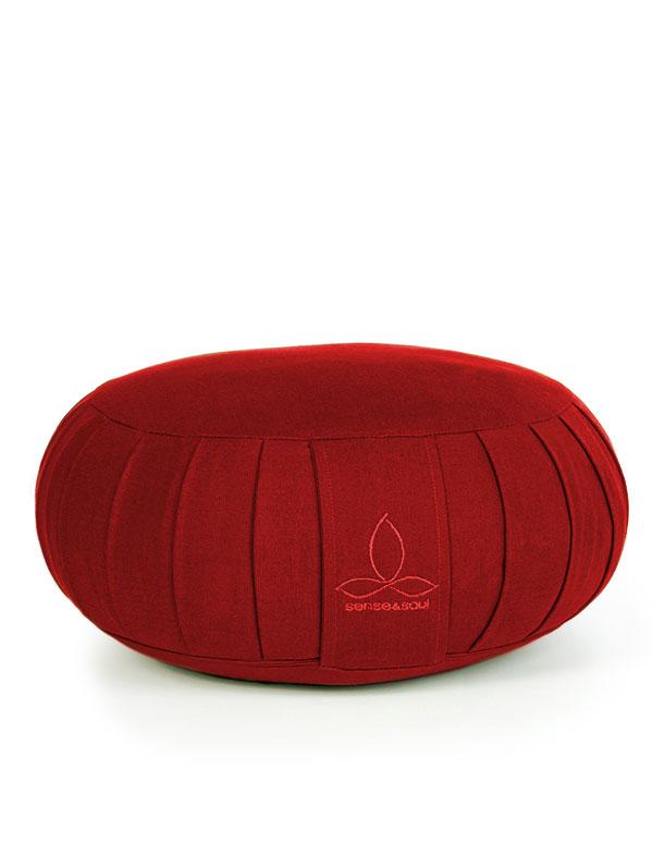 ökologisches Yogakissen Zafu in rot